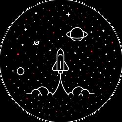 Space Explore More Sticker