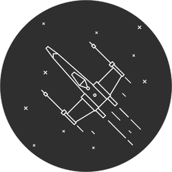 Space Fighter Sticker