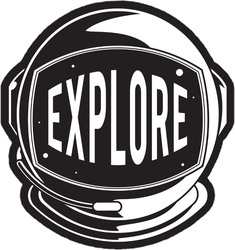 Space Helmet Explore Sticker