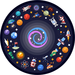 Space Icons Black Hole Sticker
