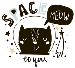 Space Meow to You Sticker