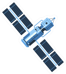 Space Satellite Sticker