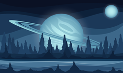 Space Sci-fi Background Sticker