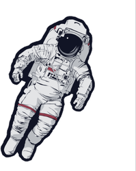 Space Suit Sticker