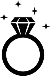 Sparkling Diamond Ring Sticker