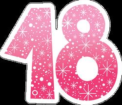 Sparkling Pink 18 Sticker