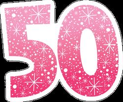 Sparkling Pink 50 Sticker