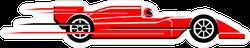 Speeding Race Car Sticker