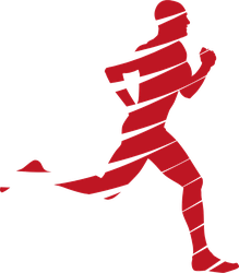Speeding Runner Silhouette Sticker
