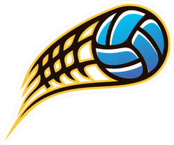 Speeding Volleyball Sticker