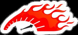 Speedometer Flame Sticker