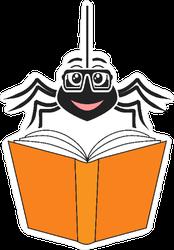 Spider Reading a Book Sticker