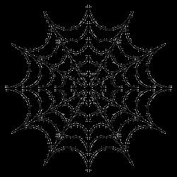 Spider Web Icon Halloween Sticker