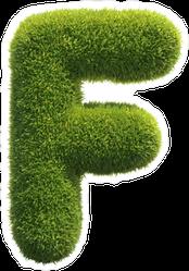 Spiky Grass Font Letter F Sticker
