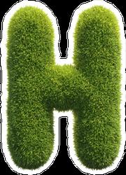Spiky Grass Font Letter H Sticker