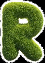Spiky Grass Font Letter R Sticker