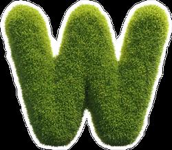 Spiky Grass Font Letter W Sticker