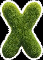 Spiky Grass Font Letter X Sticker