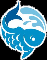 Splashing Fish Sticker