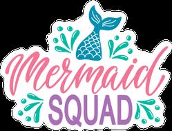 Splashing Mermaid Tail Squad Sticker