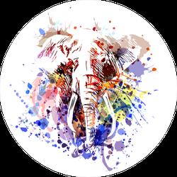 Splatter Color Elephant Sticker