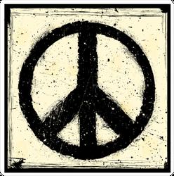 Splatter Paint Peace Symbol Sticker