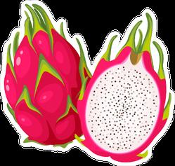 Split Dragon Fruit Sticker
