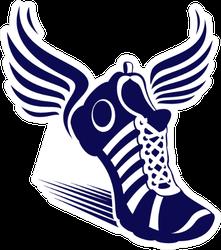 Sport Shoe With Wings Sticker