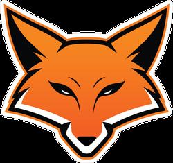 Sports Fox Head Mascot Sticker