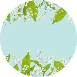 Spring And Summer Floral Lily Frame Sticker