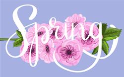Spring Brush Lettering Sticker