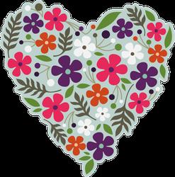 Spring Flower Heart Sticker