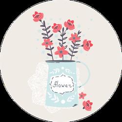Spring Flowers In Jar Sticker