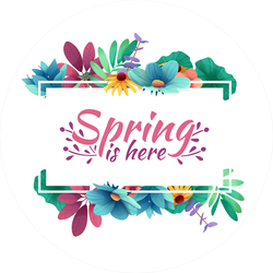 Spring Is Here Card Sticker