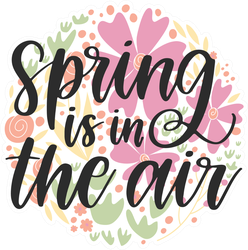 Spring Is In The Air Circle Sticker