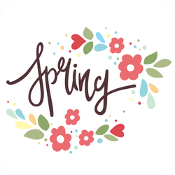 Spring With Flowers Sticker
