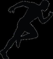 Sprinting Man Silhouette Running Sticker