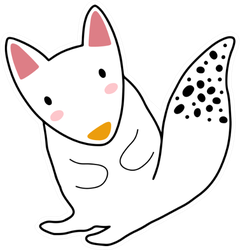 Squirrel Character Design Cute Cartoon Sticker
