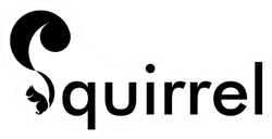 Squirrel Logo Lettering Design Sticker