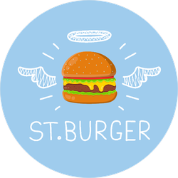 St. Burger Angel Wings Sticker