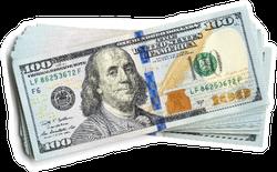 Stack of 100 Dollar Bills Sticker