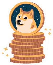 Stack of Dogecoin Sticker