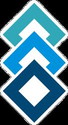 Stacked Blue Box Diamonds Sticker