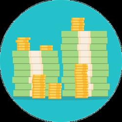 Stacks of Money Sticker