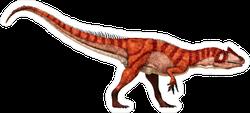 Stalking Allosaurus Sticker