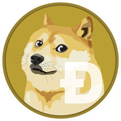 Standard Dogecoin Sticker