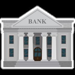 Standard Illustrated Bank Sticker