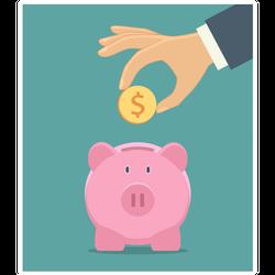 Standard Piggy Bank Illustration Sticker