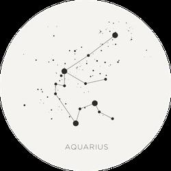 Star Constellation Zodiac Aquarius Sticker