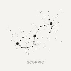 Star Constellation Zodiac Scorpio Sticker